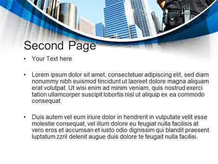 City Guard Security PowerPoint Template, Slide 2, 10425, Legal — PoweredTemplate.com