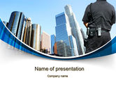 Legal: City Guard Security PowerPoint Template #10425