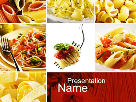 Pasta Recipes PowerPoint Template, 10426, Food & Beverage — PoweredTemplate.com