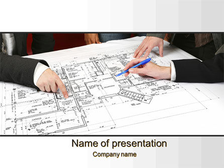 Construction Project Approvals PowerPoint Template, 10427, Careers/Industry — PoweredTemplate.com