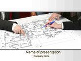 Careers/Industry: Modèle PowerPoint de approbations de projet de construction #10427