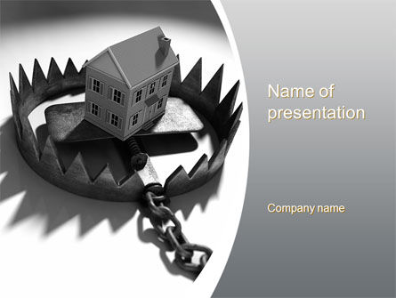 Financial/Accounting: Mortgage Trap PowerPoint Template #10430
