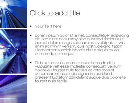 High Speed Motion PowerPoint Template, Slide 3, 10431, Abstract/Textures — PoweredTemplate.com