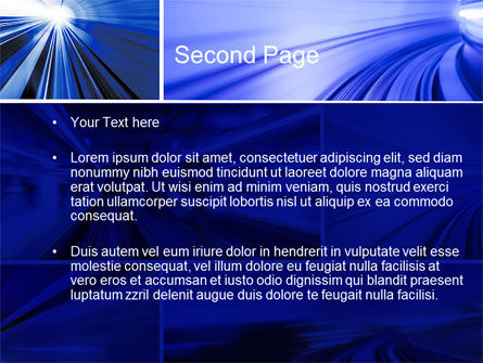 High Speed Motion PowerPoint Template Slide 2