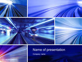 Abstract/Textures: High Speed Motion PowerPoint Template #10431