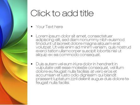 Rainbow Swirl PowerPoint Template, Slide 3, 10432, Abstract/Textures — PoweredTemplate.com