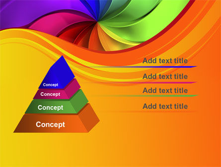 Rainbow Swirl PowerPoint Template Slide 12