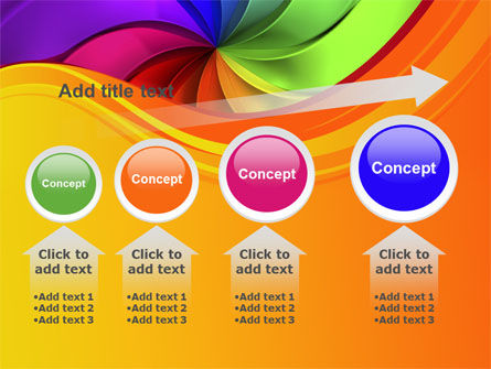 Rainbow Swirl PowerPoint Template Slide 13