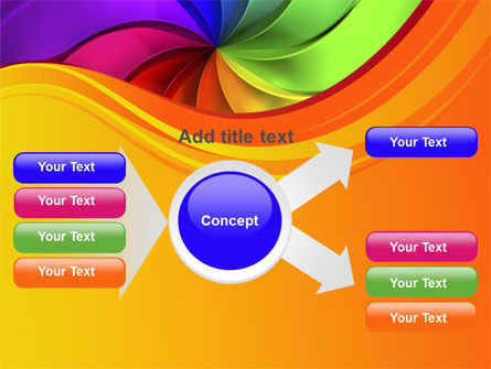 Rainbow Swirl PowerPoint Template Slide 14