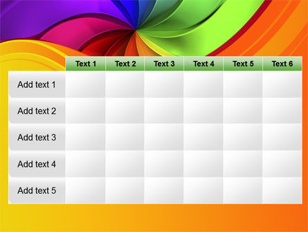Rainbow Swirl PowerPoint Template Slide 15