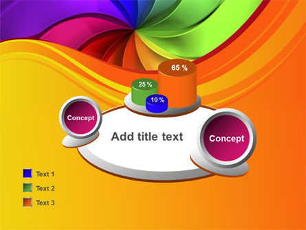 Rainbow Swirl PowerPoint Template Slide 16