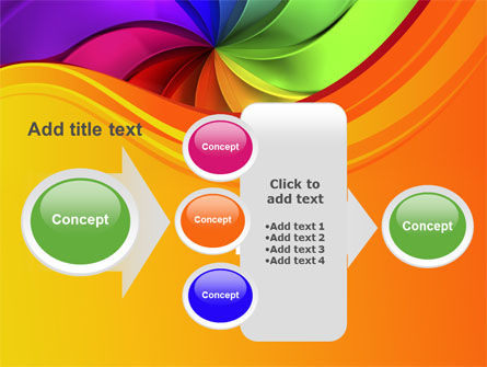 Rainbow Swirl PowerPoint Template Slide 17