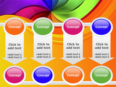 Rainbow Swirl PowerPoint Template Slide 18