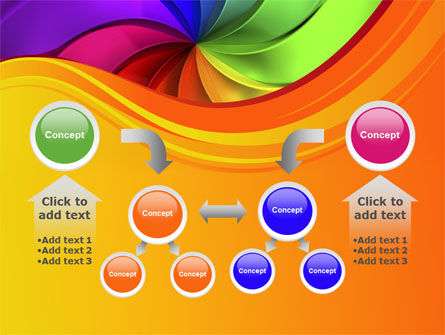 Rainbow Swirl PowerPoint Template Slide 19