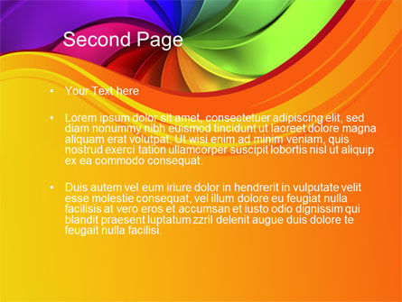 Rainbow Swirl PowerPoint Template Slide 2
