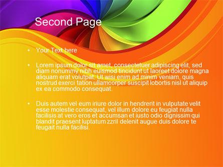 Rainbow Swirl PowerPoint Template, Slide 2, 10432, Abstract/Textures — PoweredTemplate.com