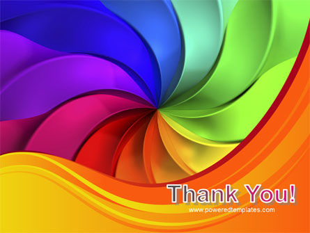 Rainbow Swirl PowerPoint Template Slide 20