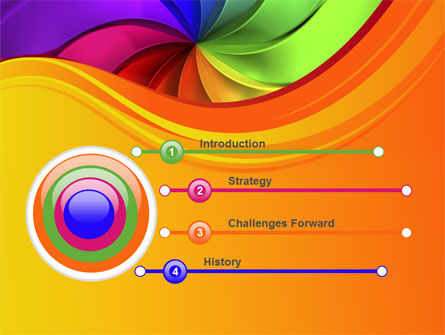 Rainbow Swirl PowerPoint Template Slide 3