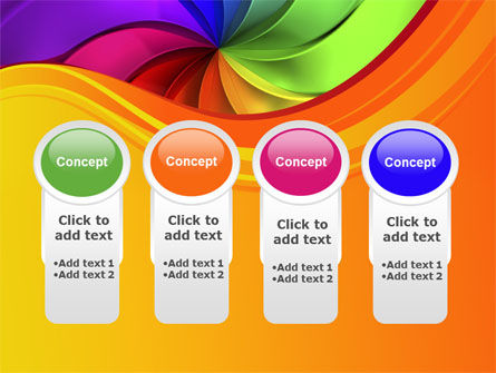 Rainbow Swirl PowerPoint Template Slide 5