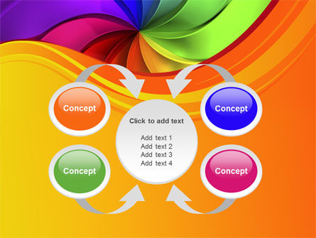 Rainbow Swirl PowerPoint Template Slide 6