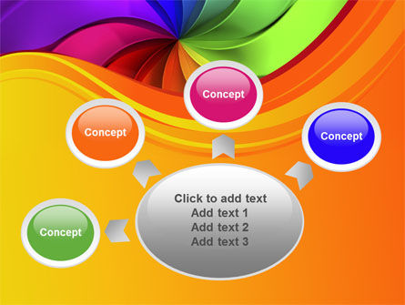 Rainbow Swirl PowerPoint Template Slide 7