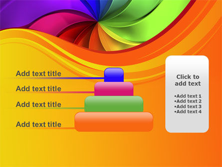 Rainbow Swirl PowerPoint Template Slide 8