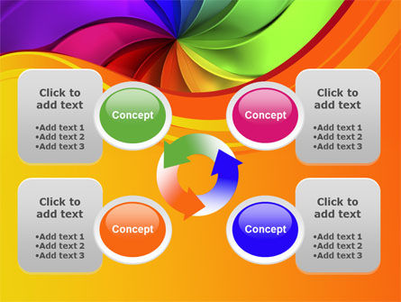 Rainbow Swirl PowerPoint Template Slide 9