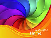 Abstract/Textures: Rainbow Swirl PowerPoint Template #10432