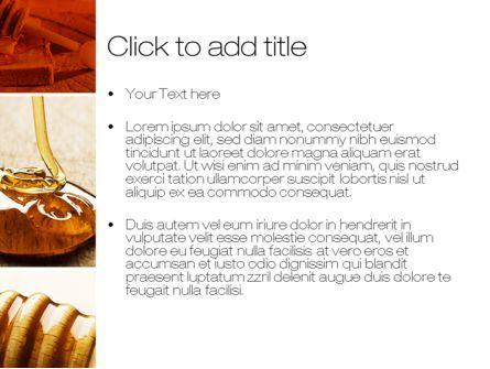Honey PowerPoint Template, Slide 3, 10433, Food & Beverage — PoweredTemplate.com