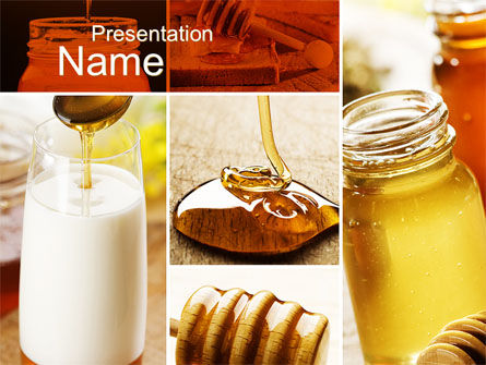 Food & Beverage: Honey PowerPoint Template #10433