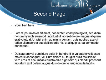 Welcome to 2013 PowerPoint Template Slide 2