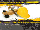 Careers/Industry: Construction Safety PowerPoint Template #10435