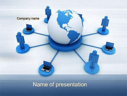 Computers: Global Network PowerPoint Template #10436