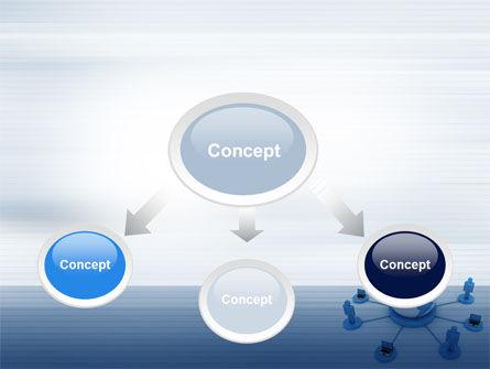 Global Network PowerPoint Template, Slide 4, 10436, Computers — PoweredTemplate.com