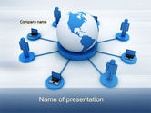 Computers: 全球网络PowerPoint模板 #10436