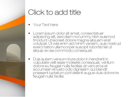 Indoor Space PowerPoint Template, Slide 3, 10438, Construction — PoweredTemplate.com