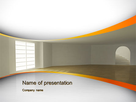 Construction: Indoor Space PowerPoint Template #10438