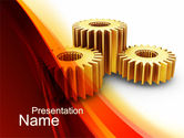 Gear Wheels PowerPoint Template#1
