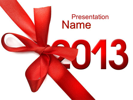Holiday/Special Occasion: 2013 Gift PowerPoint Template #10441