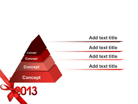 2013 Gift PowerPoint Template Slide 12