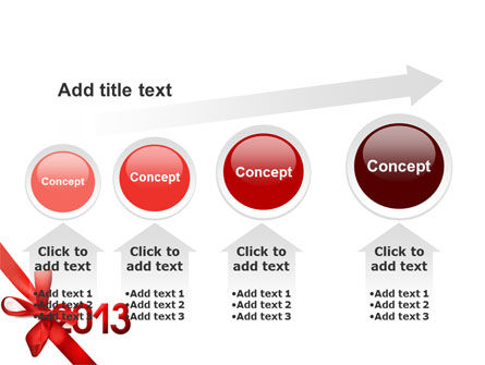 2013 Gift PowerPoint Template Slide 13