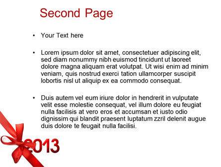 2013 Gift PowerPoint Template Slide 2