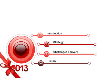 2013 Gift PowerPoint Template Slide 3