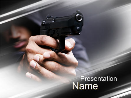 Gunman PowerPoint Template, 10442, Legal — PoweredTemplate.com