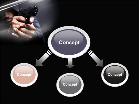 Gunman PowerPoint Template, Slide 4, 10442, Legal — PoweredTemplate.com
