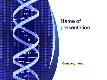 Technology and Science: Strand of DNA PowerPoint Template #10443