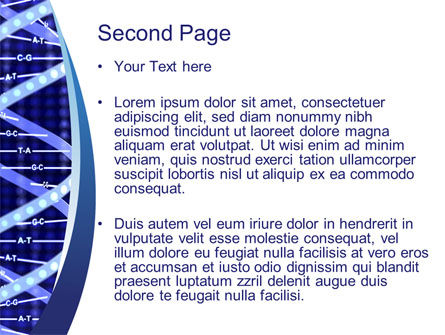Strand of DNA PowerPoint Template, Slide 2, 10443, Technology and Science — PoweredTemplate.com