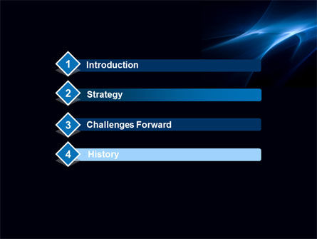 Blue Nebulosity PowerPoint Template Slide 3