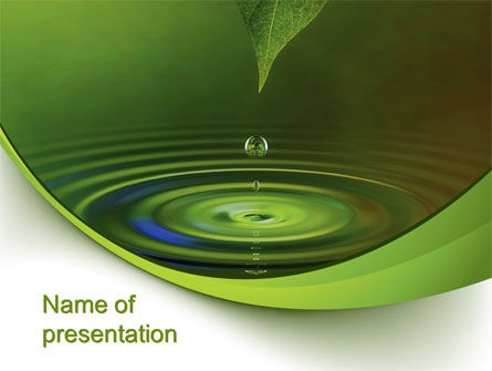 Green Water PowerPoint Template, 10446, Nature & Environment — PoweredTemplate.com
