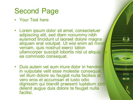 Green Water PowerPoint Template, Slide 2, 10446, Nature & Environment — PoweredTemplate.com